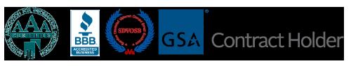 BBB and GSA logos