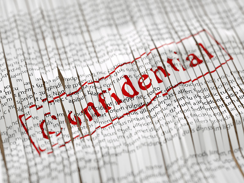 confidential shredded papers