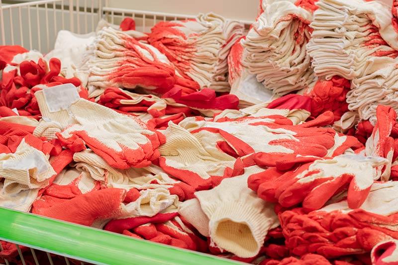 uniforms in shredding bin