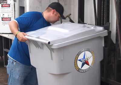 secure paper shredding bin